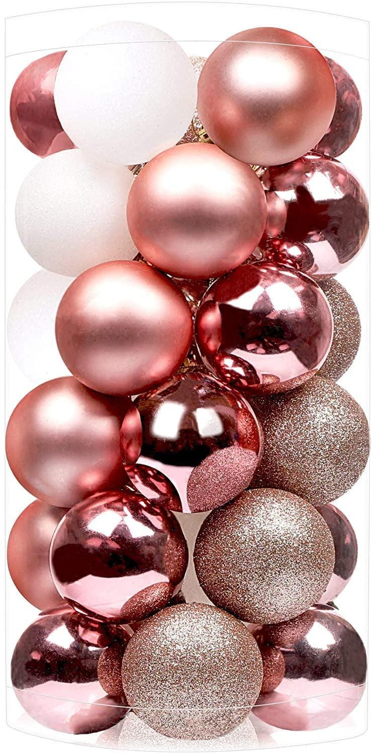 <p>Glitter, mirror, matte – this pack of <span>SHareconn 30ct 2.36 Inch Christmas Balls</span> ($16, originally $17) has it all. </p>