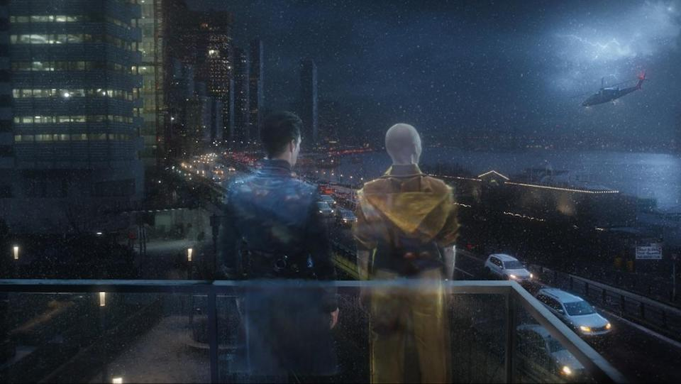 Doctor Strange and the Ancient One in the Astral Plane, a part of the MCU's multiverse, from Doctor Strange