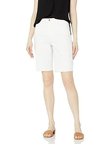 """<p><strong>Anne Klein Jeans</strong></p><p>amazon.com</p><p><strong>$45.40</strong></p><p><a href=""""https://www.amazon.com/dp/B08XY2R8F4?tag=syn-yahoo-20&ascsubtag=%5Bartid%7C2164.g.36608512%5Bsrc%7Cyahoo-us"""" rel=""""nofollow noopener"""" target=""""_blank"""" data-ylk=""""slk:Shop Now"""" class=""""link rapid-noclick-resp"""">Shop Now</a></p><p>White shorts can be tricky but we're convinced these are the perfect pair! These denim Bermuda shorts offer a relaxed fit, just a hint of stretch, and stylish, raw-edged hems that look great rolled or unrolled. </p>"""