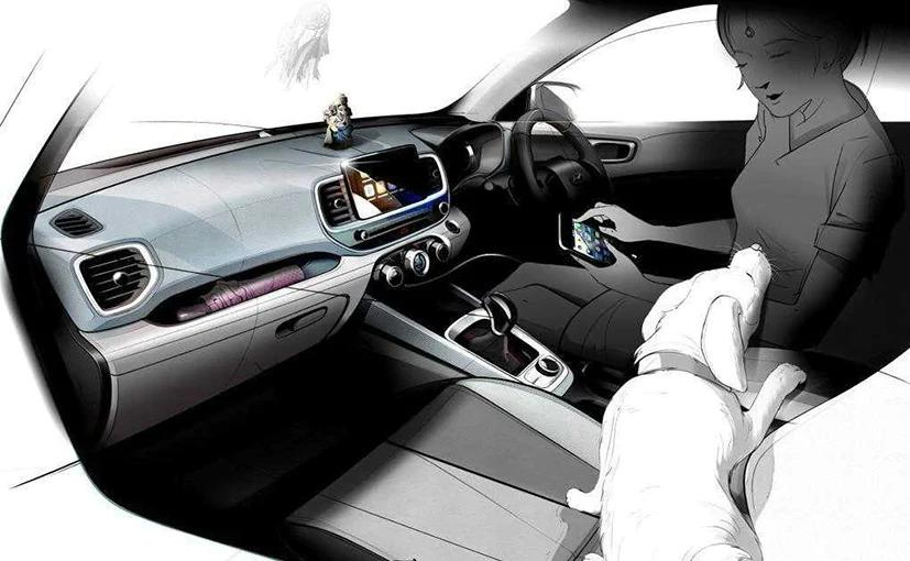Hyundai's Venue compact SUV will come with its Bluelink smart infotainment system that features connectivity options.