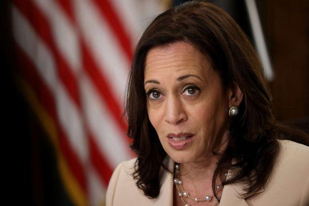 PHOTO: Vice President Kamala Harris speaks during an event marking the ninth anniversary of the creation of the Deferred Action for Childhood Arrivals (DACA) on June 15, 2021 in Washington, DC. (Win Mcnamee/Getty Images)