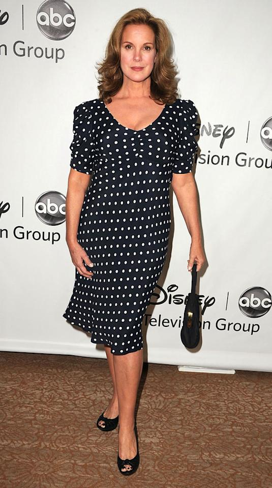 """Elizabeth Perkins (""""How to Live With Your Parents for the Rest of Your Life"""") arrives at  the Disney/ABC Television Group Summer 2012 Press Tour Party at The  Beverly Hilton Hotel on July 27, 2012 in Beverly Hills, California."""