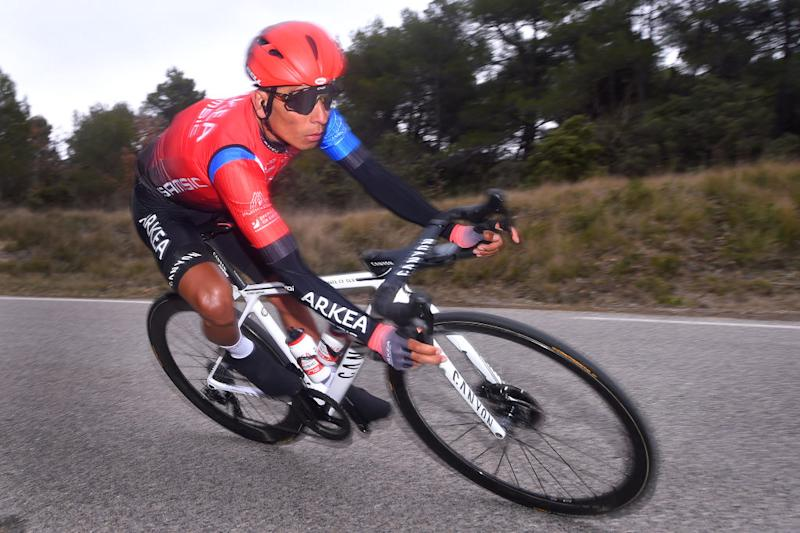 Arkéa-Samsic's Nairo Quintana en route to overall victory at the 2020 Tour de la Provence