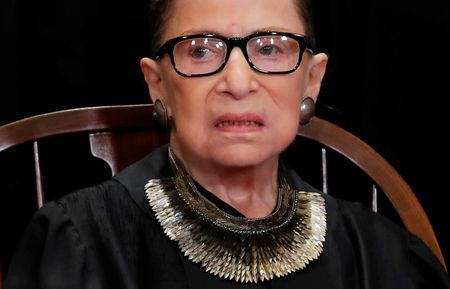 FILE PHOTO: FILE PHOTO: U.S. Supreme Court Justice Ruth Bader Ginsburg poses during group portrait at Supreme Court in Washington