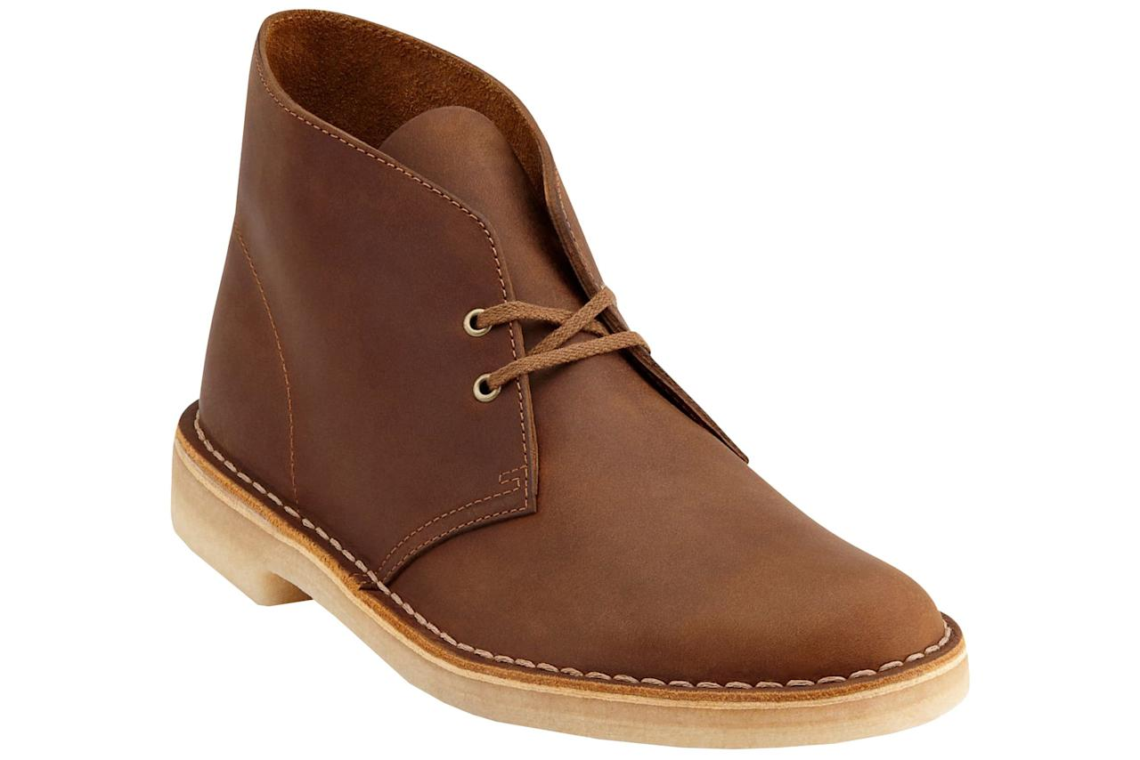 "<p><strong>CLARKS</strong></p><p>nordstrom.com</p><p><strong>$130.00</strong></p><p><a href=""https://go.redirectingat.com?id=74968X1596630&url=https%3A%2F%2Fshop.nordstrom.com%2Fs%2Fclarks-originals-desert-boot-men%2F2779752&sref=http%3A%2F%2Fwww.esquire.com%2Fstyle%2Fmens-fashion%2Fg28186249%2Fbusiness-casual-shoes%2F"" target=""_blank"">SHOP</a></p><p>If ""business casual footwear"" <em>did</em> have a definition, we're pretty sure Clarks desert boot would be the first example. It's polished but not too dressy. </p>"