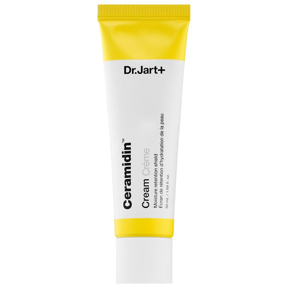"""<p>There are nearly 1,000 5-star reviews for this <a href=""""https://www.popsugar.com/buy/Dr-Jart-Ceramidin-Cream-572829?p_name=Dr.%20Jart%2B%20Ceramidin%20Cream&retailer=sephora.com&pid=572829&price=48&evar1=bella%3Aus&evar9=47461551&evar98=https%3A%2F%2Fwww.popsugar.com%2Fbeauty%2Fphoto-gallery%2F47461551%2Fimage%2F47461559%2FDr-Jart-Ceramidin-Cream&list1=sephora%2Cdry%20skin%2Cacne%2Csensitive%20skin%2Cbeauty%20shopping%2Cskin%20care&prop13=mobile&pdata=1"""" class=""""link rapid-noclick-resp"""" rel=""""nofollow noopener"""" target=""""_blank"""" data-ylk=""""slk:Dr. Jart+ Ceramidin Cream"""">Dr. Jart+ Ceramidin Cream</a> ($48-$69) which strengthens the skin's natural barrier so it's prepared to take on pretty much any environment. Even normal skin benefits from this product, but super-dry skin can get extra comfort from its blend of moisturizing ceramides and hyaluronic acid.</p>"""