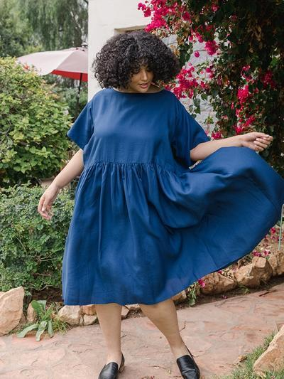 """<h2>Tradlands </h2><strong>Best For</strong>: Ethical Fabrics & Flowy Silhouettes<br><strong>Size Range</strong>: XXS-5X<br><br>Tradlands new extended sizing is done right with lots of care put into its development. Although this brand has not always been on on top of things plus-size fashion wises. It's definitely made a big comeback and has won over the hearts of the sustainable fat folk on the interwebs. <br><br><strong>Cusotomer Take:</strong> """"I own the Nico dress in two color ways now; it is the perfect dress for any occasion! Depending on how you accessorize it, it could be a casual dress for a lunch date with friends or a dress for a fancy occasion. It is flattering without being too boxy or large, and yet the loose fit means it is beyond comfortable. The fabric is clearly high quality and the colors are vivid and beautiful. I highly recommend everyone get a Nico dress!""""<br><br><em>Shop <strong><a href=""""https://tradlands.com/products/nico-linen-dress?variant=39291567472794"""" rel=""""nofollow noopener"""" target=""""_blank"""" data-ylk=""""slk:Tradlands"""" class=""""link rapid-noclick-resp"""">Tradlands </a></strong></em><br><br><br><strong>Tradlands</strong> Brianna Nico Dress, $, available at <a href=""""https://go.skimresources.com/?id=30283X879131&url=https%3A%2F%2Ftradlands.com%2Fproducts%2Fnico-linen-dress%3Fvariant%3D39291567472794"""" rel=""""nofollow noopener"""" target=""""_blank"""" data-ylk=""""slk:Tradlands"""" class=""""link rapid-noclick-resp"""">Tradlands</a>"""