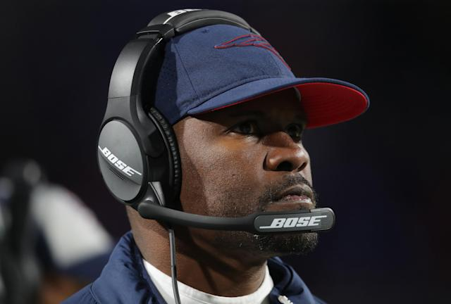 A watchdog group points to Patriots assistant Brian Flores as a candidate qualified to have taken the Jets job who could end up in Miami. (Getty)