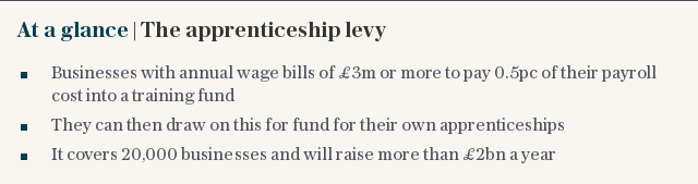At a glance | The apprenticeship levy