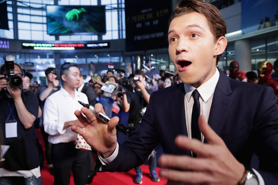 SEOUL, SOUTH KOREA - JULY 02:  Tom Holland attends the 'Spider-Man: Homecoming' Seoul Premiere at Yeongdeunpo Times Square on July 2, 2017 in Seoul, South Korea.  (Photo by Han Myung-Gu/WireImage)