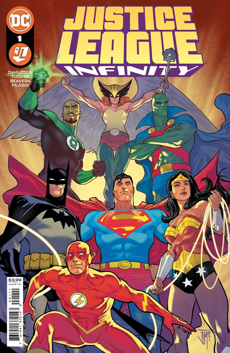 The heroes of the DC Animated Universe return in Justice League Infinity, featuring a cover from Francis Manapul