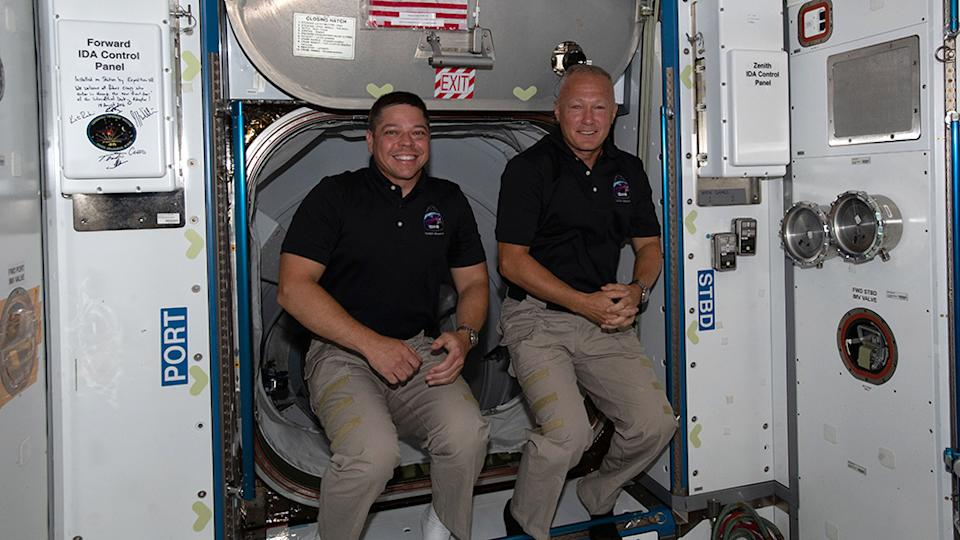 Bob Behnken (L) and Doug Hurley (R) launched to the space station at the end of May