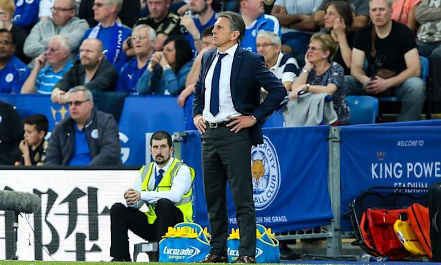 Claude Puel watches his side's uninspired 0-0 draw with Southampton – the fifth time in a row Leicester have dropped points at home.