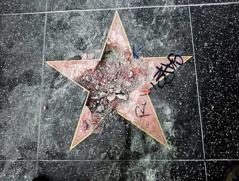 Man sentenced for smashing Trump's Hollywood star with axe