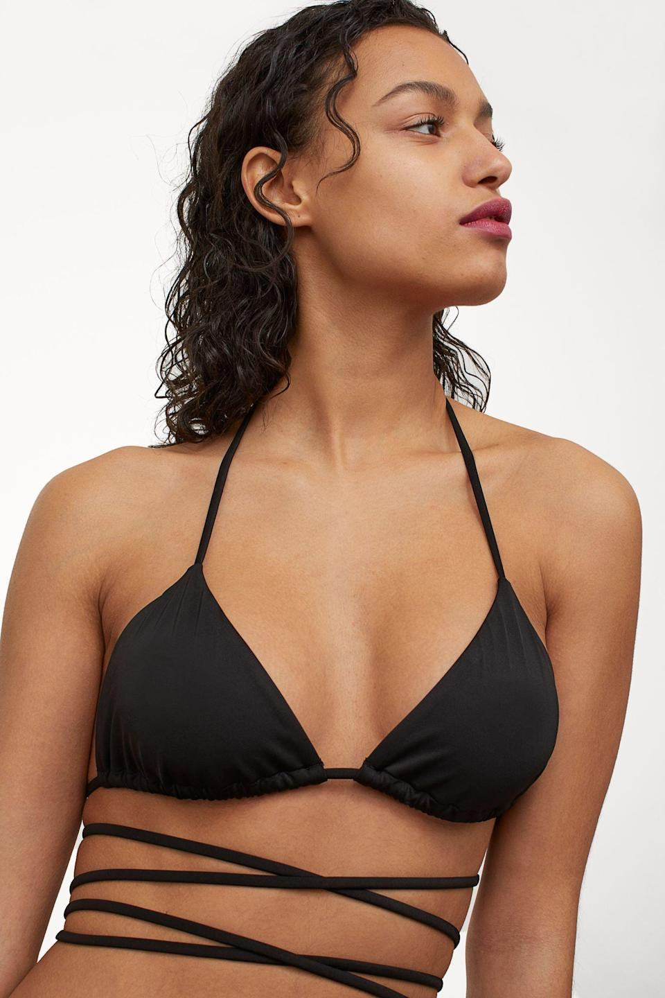 <p>This <span>Triangle Bikini Top</span> ($10) is edgy, sexy, and a surefire way to make a splash. It couldn't have a hotter match than these <span>Brazilian Bikini Bottoms</span> ($10).</p>