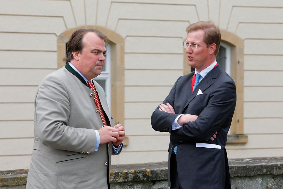 Phillipp Fuerst zu Hohenlohe-Langenburg and Erbprinz Bernhard von Baden pictured in 2013.Getty Images