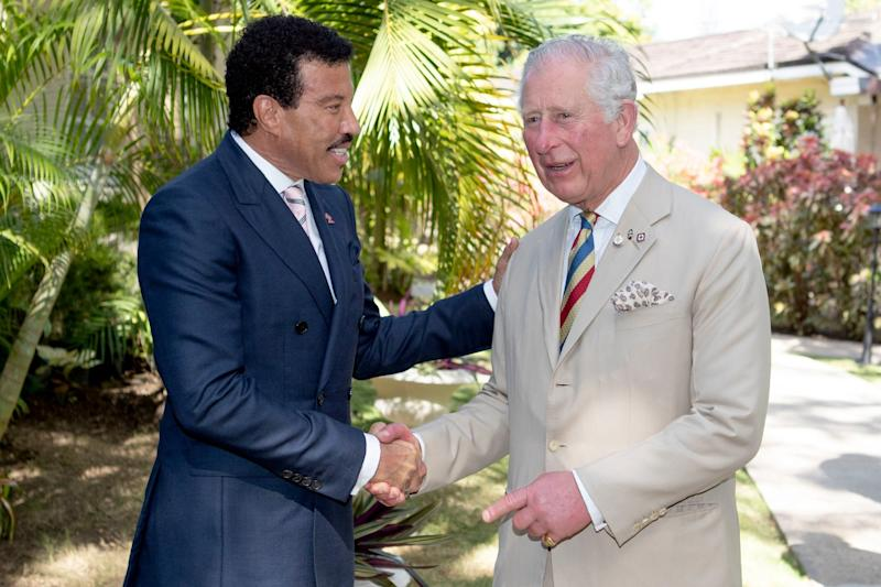 Hello: Prince Charles meets Lionel Richie (PA)