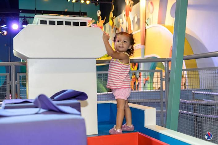 A child plays at the Carnival Cruise Upper Deck Exhibit at the Miami Children's Museum.