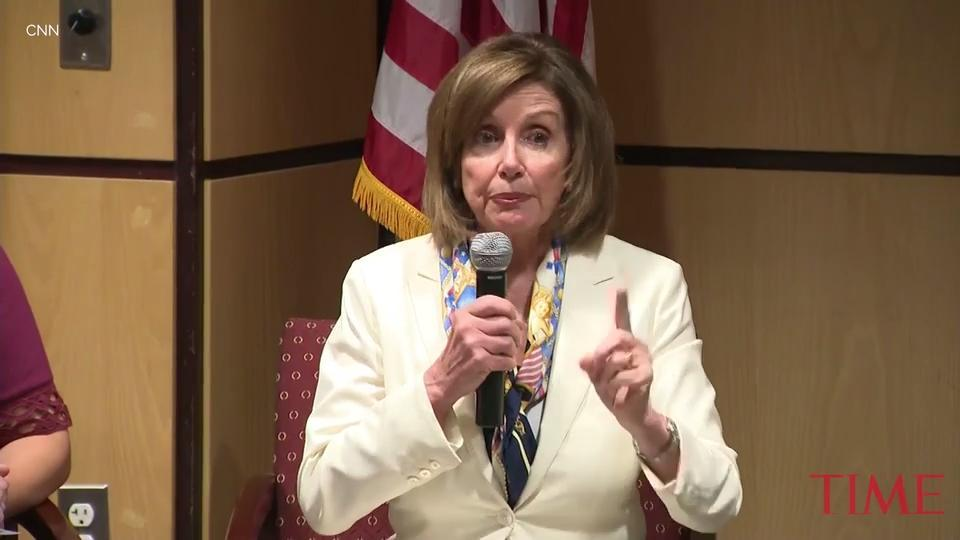 "House Speaker Nancy Pelosi called President Donald Trump's threatened coast-to-coast deportations of migrants ""outside the circle of civilized human behavior."""