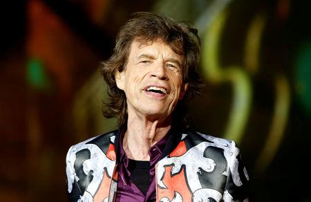 """FILE PHOTO: Mick Jagger of the Rolling Stones performs during a concert of their """"No Filter"""" European tour at the Orange Velodrome stadium in Marseille"""