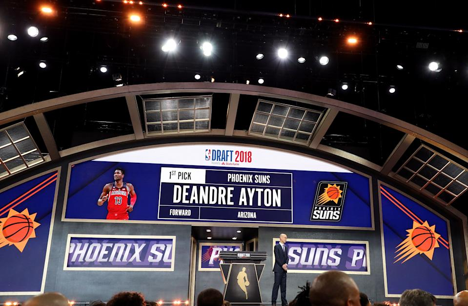 Deandre Ayton was chosen No. 1 overall in the 2018 NBA draft. (Getty)