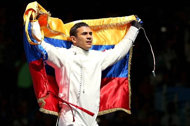 Limardo also charmed London and beyond by wearing his medal on the capital's Underground system, 