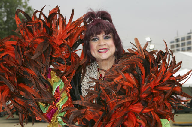 "Margarita Pracatan poses backstage at the second annual ""Big Gay Out"", Europe's biggest Gay music festival, at Finsbury Park on July 23, 2005 in London, England. (Photo by Jo Hale/Getty Images)"