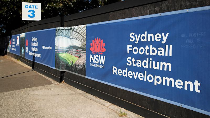 The remains of the old Allianz Stadium, pictured here in July. (Photo by Cameron Spencer/Getty Images)