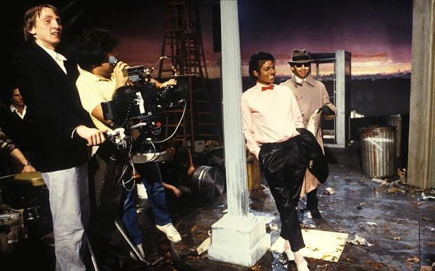 "Steve Barron and Michael Jackson on the set of ""Billie Jean."" (Photo: Courtesy of Steve Barron)"