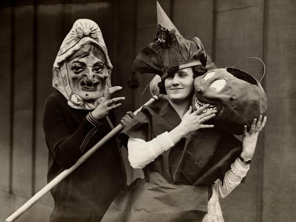 Women in the 1920s dressed up for Halloween