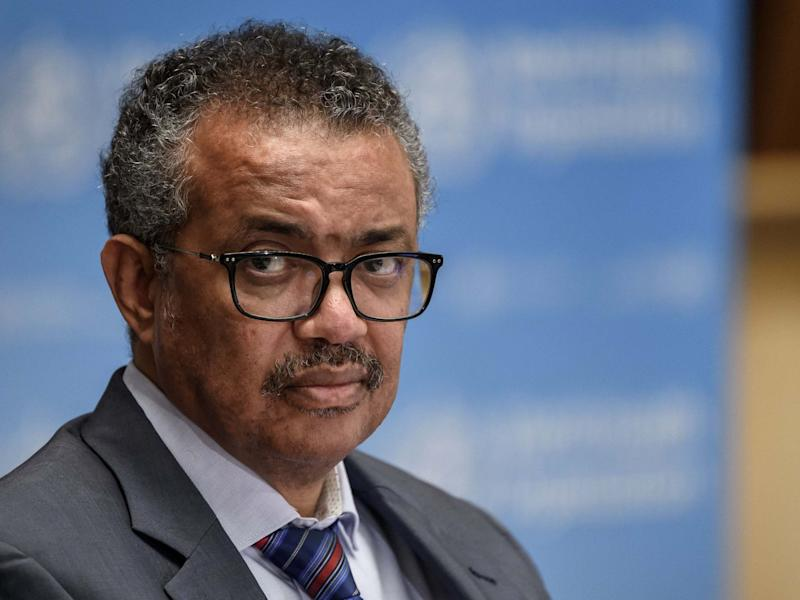 Tedros Adhanom Ghebreyesus attends a press conference as the World Health Organisation's director-general: POOL/AFP via Getty Images