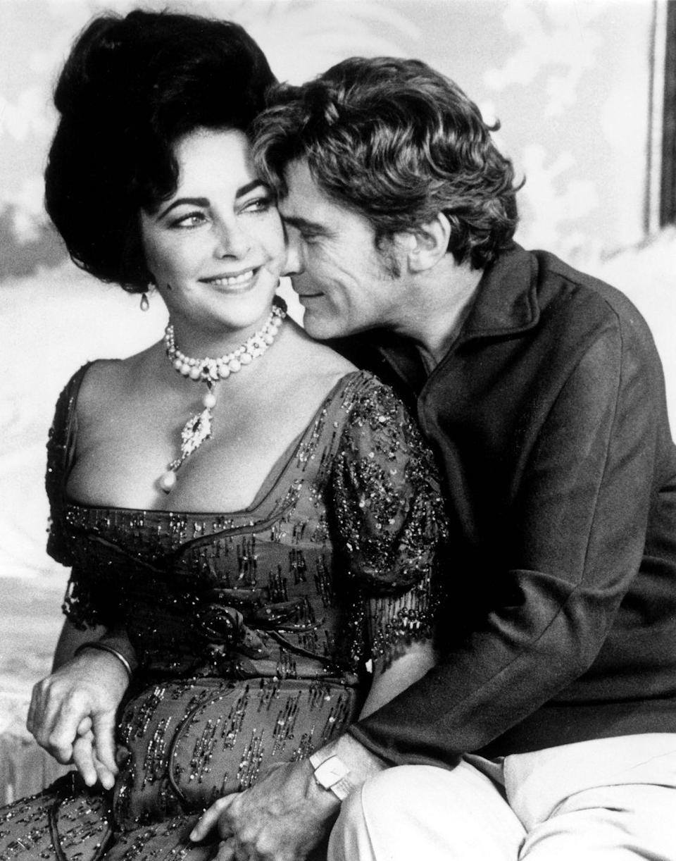 """<p>Elizabeth Taylor <a href=""""http://people.com/archive/cover-story-so-happy-in-love-vol-14-no-16/"""" rel=""""nofollow noopener"""" target=""""_blank"""" data-ylk=""""slk:married"""" class=""""link rapid-noclick-resp"""">married</a> her sixth husband John Warner on December 4, 1976. Warner was a Republican politician from Virginia and Taylor helped him during his campaign. The two eventually divorced in November 1982. </p>"""