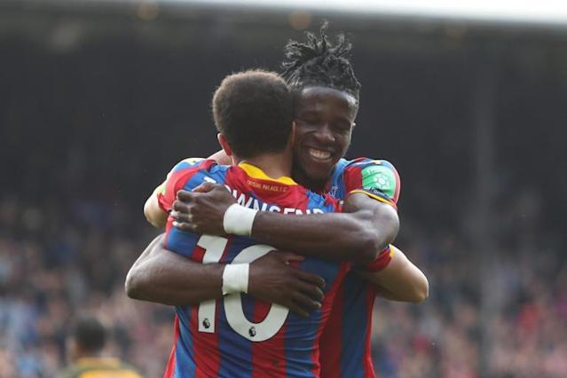 Wilfried Zaha suffered injury scare before inspiring Crystal Palace to crucial win over Brighton