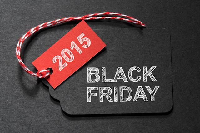 black friday 2015 text on a...