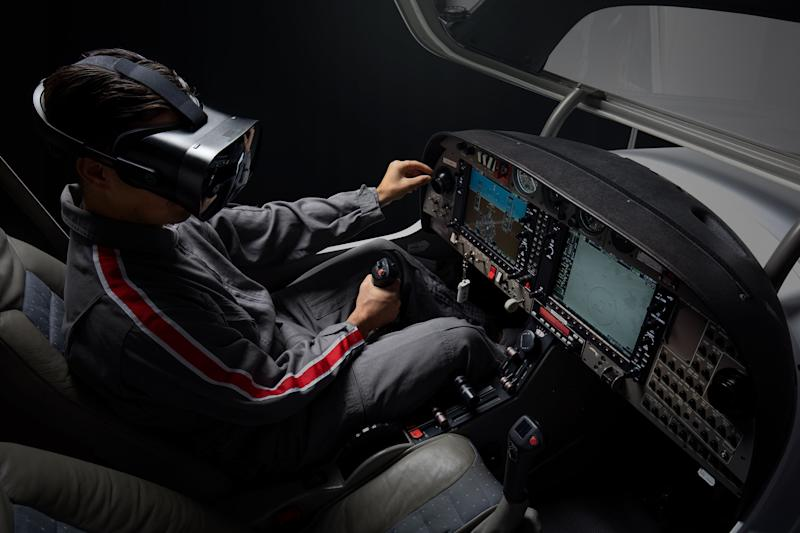 Varjo headset for training and simulation