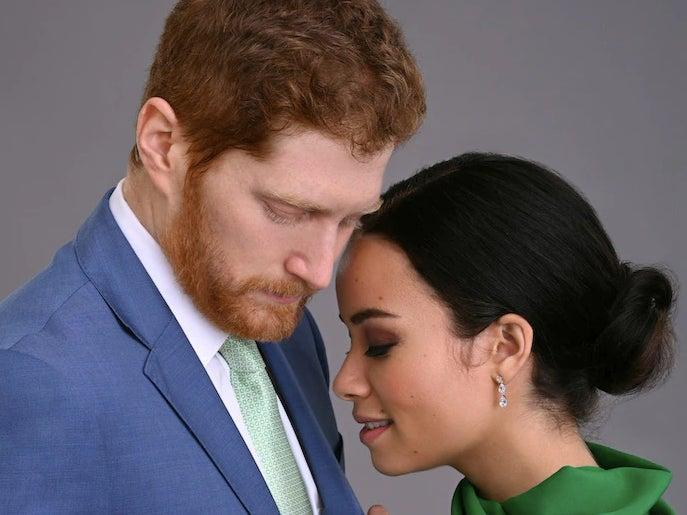 The Harry and Meghan film, starring Jordan Dean and Sydney Morton, is confusing a lot of peopleLifetime Canada