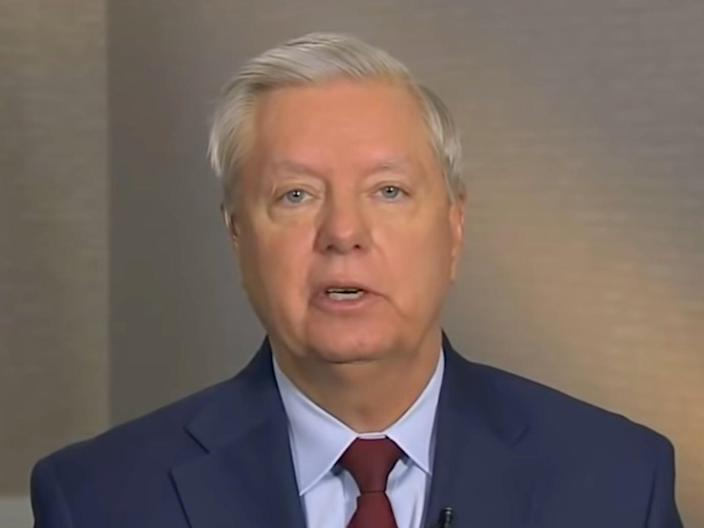 Lindsey Graham told Fox News that he's not supportive of Joe Manchin's voting reform compromise.  (Fox News)