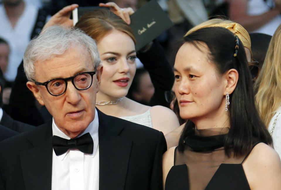 """Allen says his relationship with wife Soon-Yi Previn (pictured in 2015) """"didn't make sense"""" when it began. (Photo: REUTERS/Regis Duvignau)"""