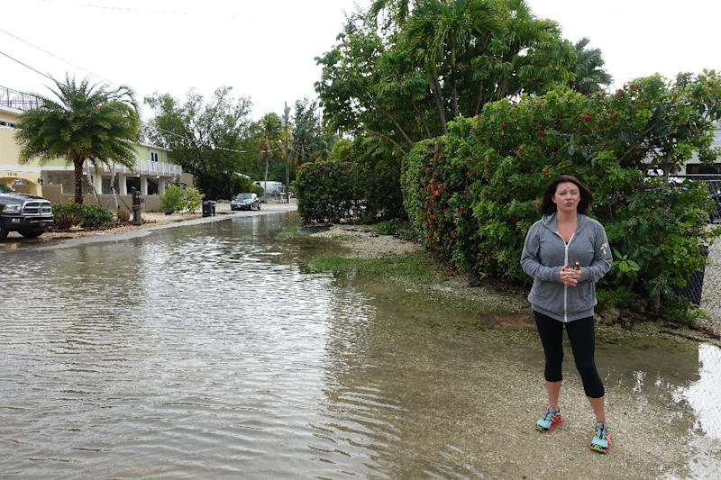 Ashley Eversman stands near the street where she lives in Key Largo, Florida on December 7, 2015 (AFP Photo/Kerry Sheridan)