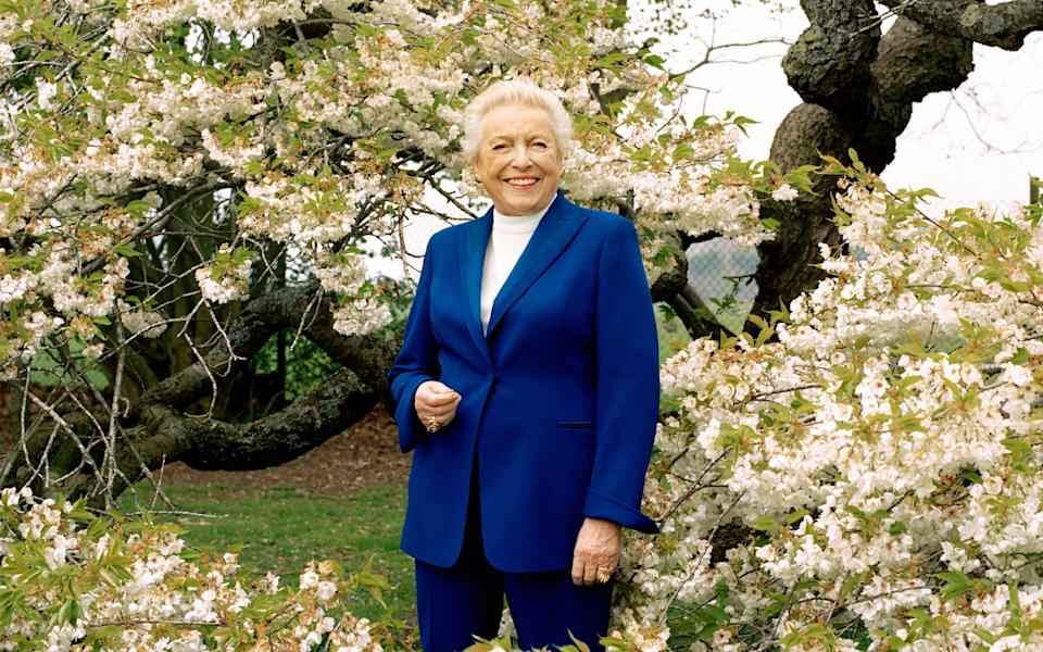 Dame Stephanie Shirley, photographed at Prior's Court, the residential school for children and young adults with autism that she founded, earlier this year - Tereza Cervenova