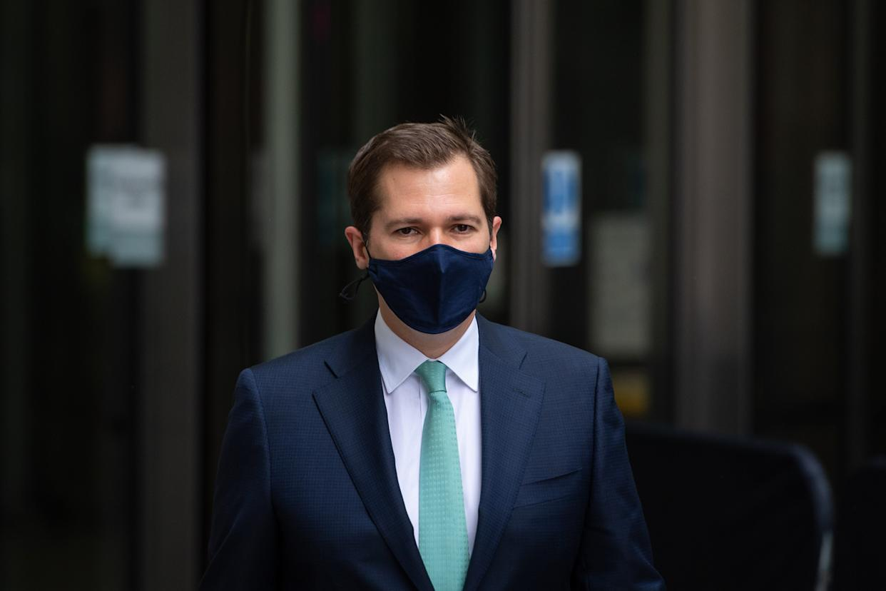 Housing Secretary Robert Jenrick outside BBC Broadcasting House, London, before his appearance on the BBC1 current affairs programme, The Andrew Marr show. Picture date: Sunday July 4, 2021.