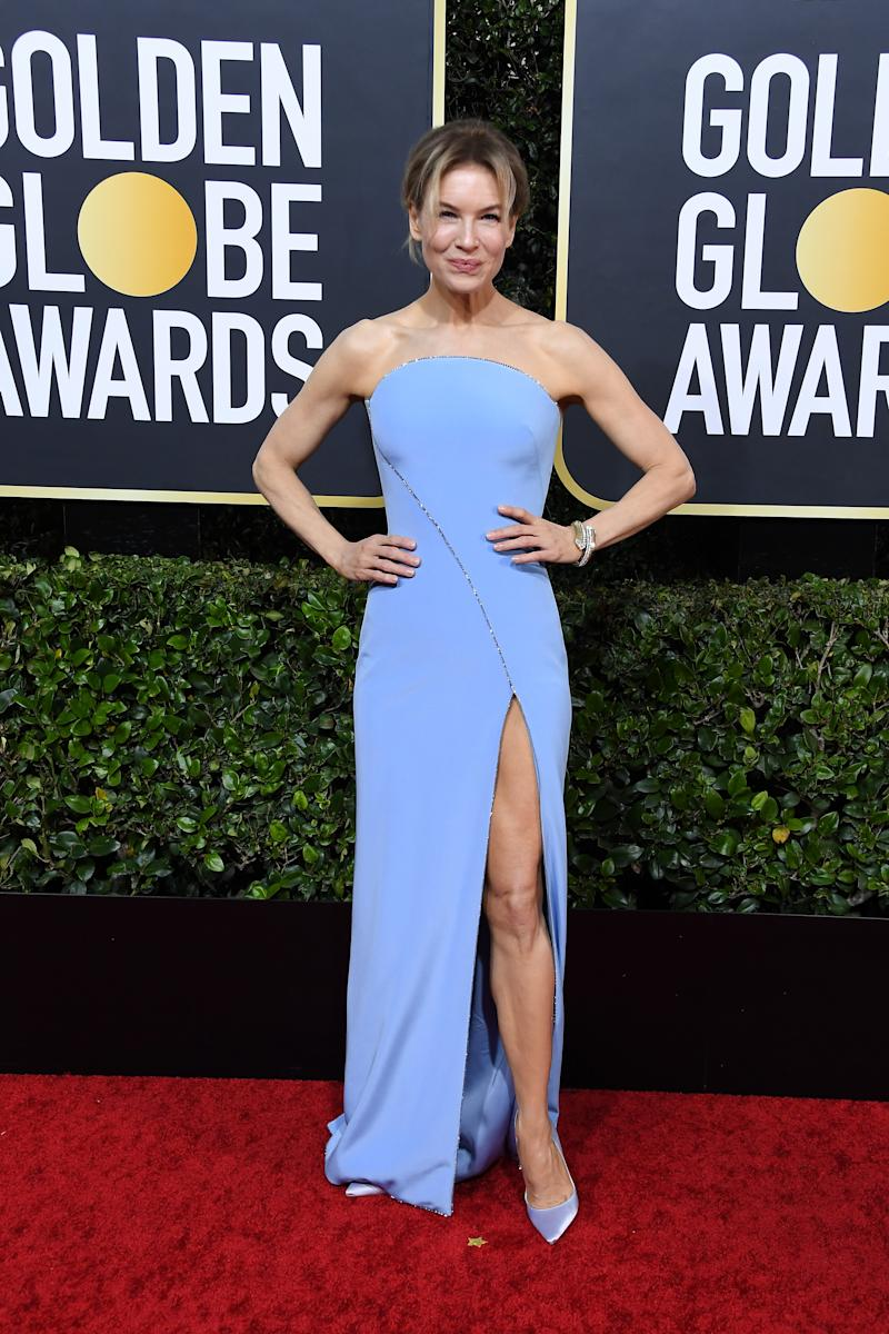 Renee Zellweger in Armani at Golden Globes Awards
