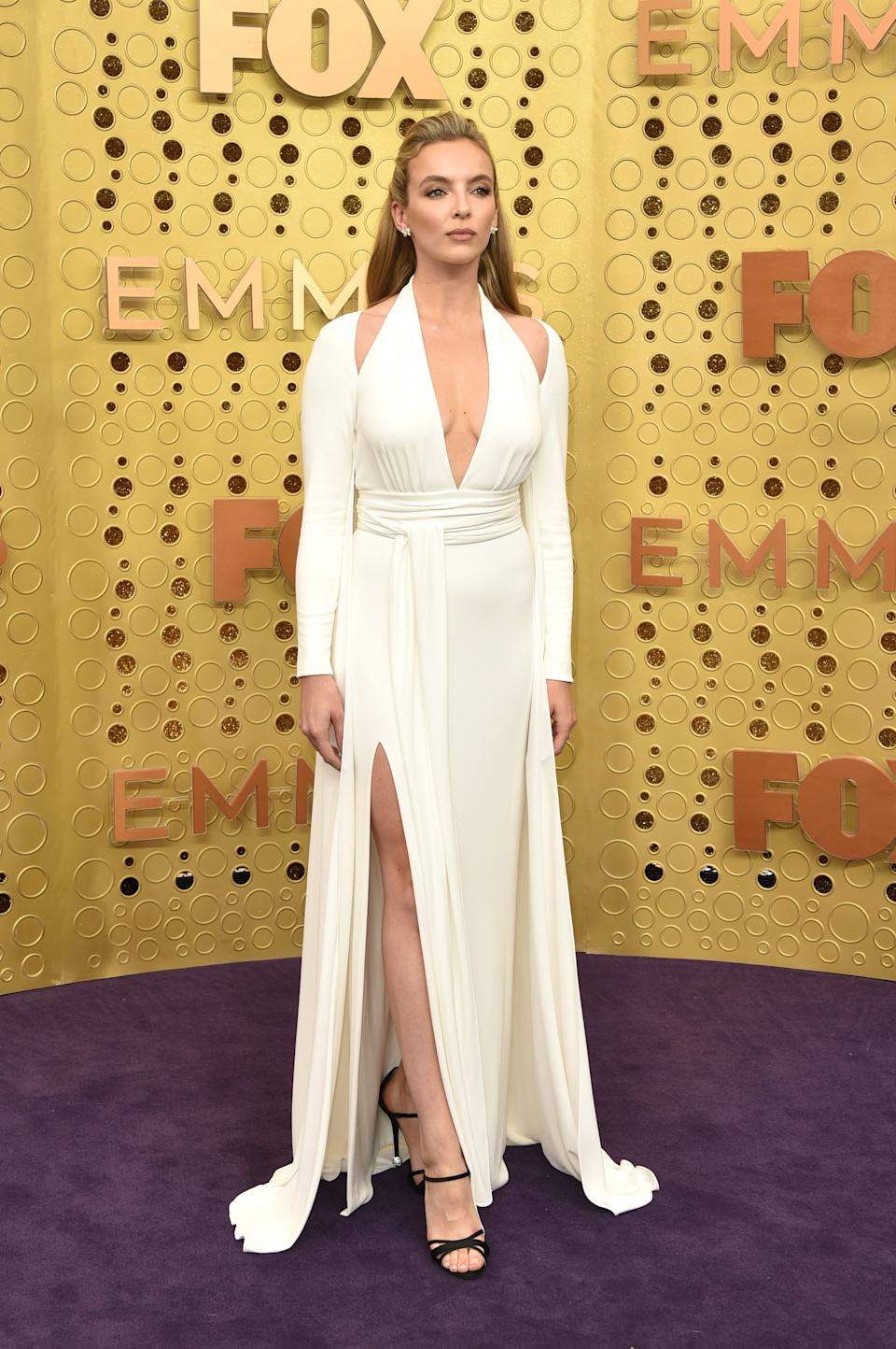 """<h1 class=""""title"""">Jodie Comer in Tom Ford and Tiffany & Co. jewelry</h1><cite class=""""credit"""">Photo: Getty Images</cite>"""