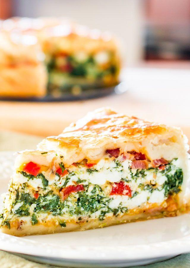 """<p>Deliver mom an oversized slice of this crusty breakfast bake stuffed with spinach, bacon, and red peppers. </p><p><strong>Ge the recipe at <a href=""""http://www.jocooks.com/breakfast-2/spinach-ricotta-brunch-bake/"""" rel=""""nofollow noopener"""" target=""""_blank"""" data-ylk=""""slk:Jo Cooks"""" class=""""link rapid-noclick-resp"""">Jo Cooks</a>.</strong> </p>"""