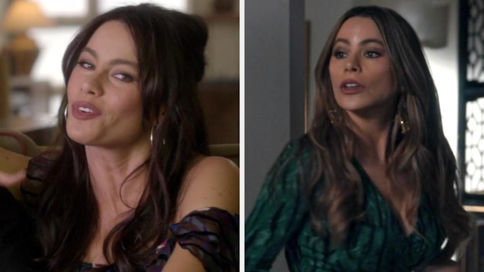 """Sofia Vergara in the first episode of """"Modern Family"""" vs. the last episode"""