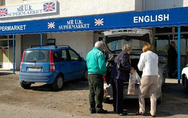 Brits abroad stocking up on supplies