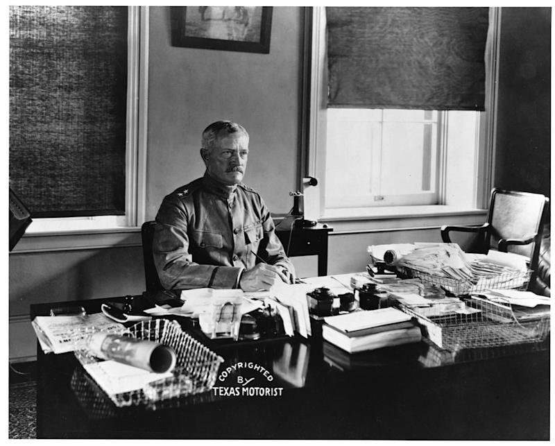 Gen John Joseph Pershing (1860-1948) at his desk. (Photo by ©CORBIS/Corbis via Getty Images)