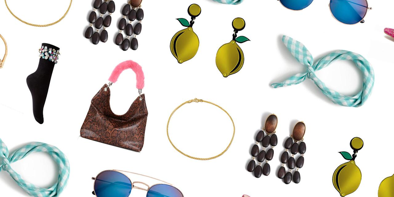 <p>Cheap and chic bandanas, statement earrings, and more. <span></span><br></p>