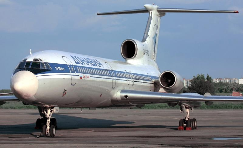File photo shows a Tupolev-154 (TU-154) similar to a military plane which crashed in the Black Sea as it made its way to Syria with 92 people onboard