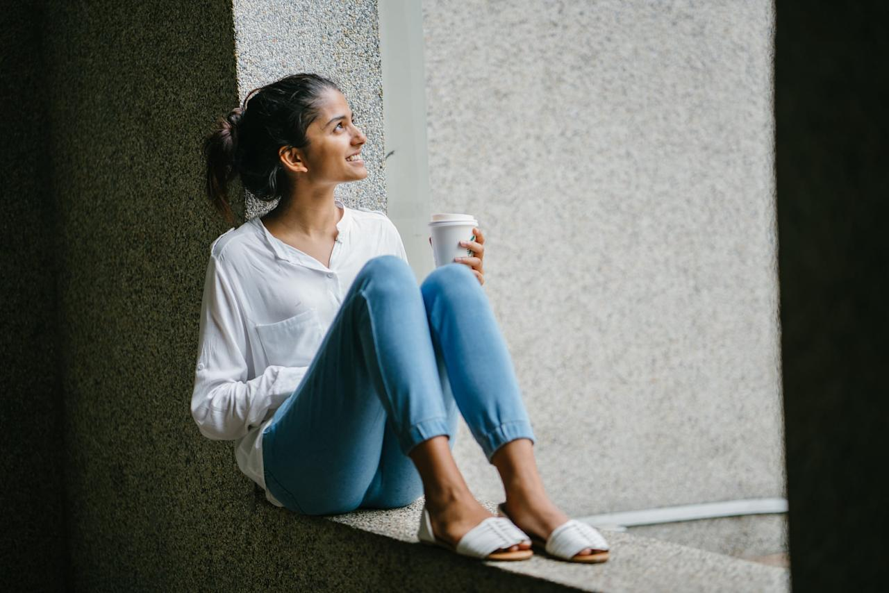 """<p>Before you can feel comfortable in your own skin, you need to feel comfortable in your mind. It's vital you spend time on you. Try to do things you like to do, as opposed to doing things you think you <em>should</em> do. Try <a href=""""https://www.popsugar.com/fitness/Yoga-Video-Self-Care-46388915"""" class=""""ga-track"""" data-ga-category=""""Related"""" data-ga-label=""""https://www.popsugar.com/fitness/Yoga-Video-Self-Care-46388915"""" data-ga-action=""""In-Line Links"""">yoga,</a> <a href=""""https://www.popsugar.com/fitness/Best-Meditation-Apps-44978435"""" class=""""ga-track"""" data-ga-category=""""Related"""" data-ga-label=""""https://www.popsugar.com/fitness/Best-Meditation-Apps-44978435"""" data-ga-action=""""In-Line Links"""">meditation</a>, or simply have a digital detox - time away from your phone is always a good thing, especially with the constant perils and pressures of social media.</p>"""